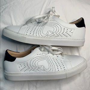Kate Spade Ashlyn white tennis shoes as 8.5